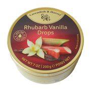 Леденцы ваниль и ревень Rhubarb Vanilla Drops Cavendish and Harvey 200 гр, фото 1