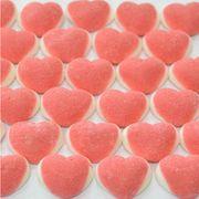 Мармелад на развес Сердце двойное розово-белое в сахаре Damel 100 гр, фото 1