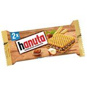 Хрустящие вафли с шоколадным кремом и кусочками фундука Hanuta 44 гр, фото 1