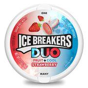 Пастилки леденцы клубника и мята без сахара Ice Breakers Duo 36 гр, фото 1
