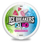 Пастилки леденцы арбуз и мята без сахара Ice Breakers Duo 36 гр, фото 1