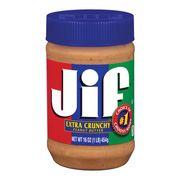 Арахисовая паста с кусочками арахиса Extra Crunchy Peanut Butter Jif 454 гр, фото 1
