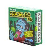 Жвачка Франкенштейн лимонад красит язык в зеленый 8 шаров Marukawa 11 гр, фото 1