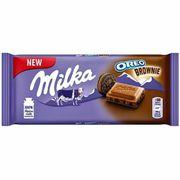 Молочный шоколад с начинкой брауни Oreo Brownie Milka 100 гр, фото 1