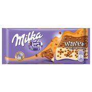 Шоколад Waves Caramel Crispearls Milka 81 гр, фото 1