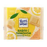 Белый шоколад Вафли с лимоном Ritter Sport 100 гр, фото 1