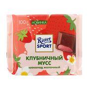 Молочный шоколад Клубничный мусс Ritter Sport 100 гр, фото 1