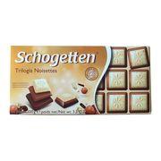 Шоколад три в одном Trilogia Noisettes Schogetten 100 гр, фото 1