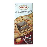 Темный шоколад с миндалем без сахара Valor 150 гр, фото 1