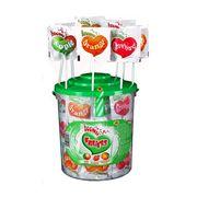 Леденец шипучий на палочке Сердечко Fruit Astra 3 шт x 12 гр, фото 1