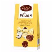 Шоколадные конфеты с кокосово-ананасовой начинкой Pearls Cemoi 115 гр, фото 1
