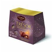 Коробка конфет молочный шоколад с пралине Хрустящие сердца Трезор Cemoi 200 гр, фото 1