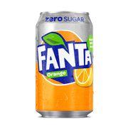 Газировка без сахара Orange Zero Fanta 330 мл, фото 1