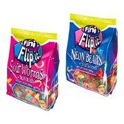 Упаковка мармелада 2-в-1 Кислые червячки и Неоновые мишки Flip It Fini 280 гр, фото 1