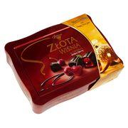 Коробка конфет на Новый Год Вишни в ликёре жесть Solidarnosc 365 гр, фото 1