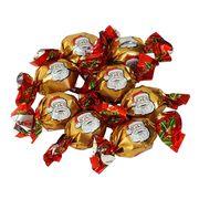 Новогодние шоколадные конфеты на развес Дед Мороз золотые Sorini 100 гр, фото 1