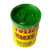 Большая банка Копилка ассорти кислых леденцов Toxic Waste 84 гр, фото 1