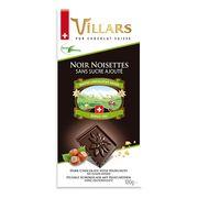 Горький шоколад с фундуком без добавления сахара Villars 100 гр, фото 1