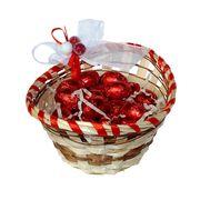 Яйца шоколадные в подарочной корзинке на Пасху Milka 150 гр, фото 1