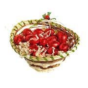 Корзиночка в подарок на пасху с яйцами ассорти Milka 150 гр, фото 1