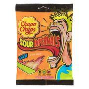 Кислые жевательные конфеты Chewy Sour Infernals Chupa Chups 120 гр, фото 1