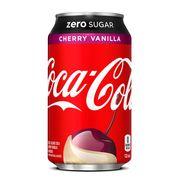 Газировка Coca-Cola Cherry Vanilla Zero USA 355 ml, фото 1