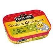 Сардины в оливковом масле Genereuse Connetable 140 гр, фото 1