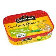 Сардины в маринаде с лимоном и базиликом Genereuse Connetable 140 гр, фото 1