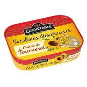Сардины в подсолнечном масле Genereuse Connetable 140 гр, фото 1