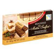 Батончики молочный шоколад с начинкой вкус тирамису Grazioso Gunz 100 гр, фото 1
