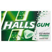 Жевательная резинка без сахара мята Spearmint Ice Rush Halls 18 гр, фото 1