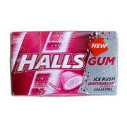 Жевательная резинка без сахара арбуз Watermelon Ice Rush Halls 18 гр, фото 1