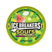 Леденцы без сахара Кислые арбуз и зеленое яблоко Sour Ice Breakers 42 гр, фото 1