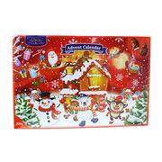 Шоколадный новогодний календарь с фигурным шоколадом Advent Calendar Baron 200 гр, фото 1