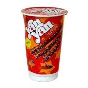 Печенье с шоколадным кремом и топингом стакан Yan Yan Mini Meiji 30 гр, фото 1