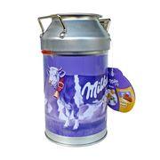 Подарочный бидон - копилка с мини шоколадками наполетанами Alpin Milk Milka 150 гр, фото 1