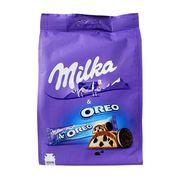 Шоколадные батончики с кремовой начинкой и печеньем Milka & Oreo 222 гр, фото 1