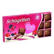 Шоколад Молочный крем и лесные ягоды Cream and Berries Schogetten 100 гр, фото 1