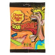 Кислые жевательные конфеты Chupa Chups Chewy Sour Infernals 83 гр, фото 1