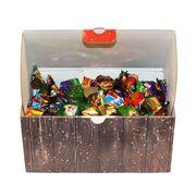 Новогодний подарок для детей и взрослых: короб с конфетами 1 кг, фото 1