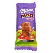 Шоколад с малиновым кремом Moo Raspberry Creme Milka 16 гр, фото 1