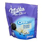 Конфеты белый шоколад с печеньем Minis Milka Oreo White 153 гр, фото 1