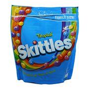 Драже тропические вкусы Family Size Tropical Skittles 196 гр, фото 1