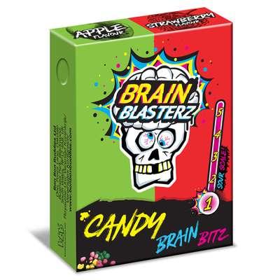 Кислое драже яблоко и клубника Brain Blasterz Candy Brain Bitz 45 гр, фото 1