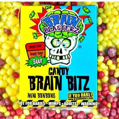 Кислое драже лимон и малина Brain Blasterz Candy Brain Bitz 45 гр, фото 2