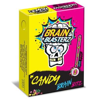 Кислое драже лимон и малина Brain Blasterz Candy Brain Bitz 45 гр, фото 1