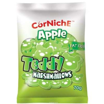 Зефир яблочные мишки маршмеллоу CorNiche Teddy Apple 70 гр, фото 1