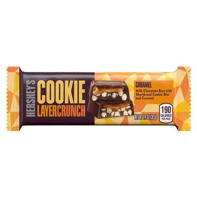 Хрустящий батончик печенье и карамель Hershey's Cookie Layer Crunch Caramel 39 гр, фото 1