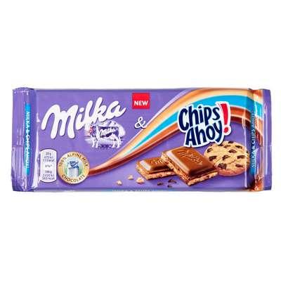 Шоколад с крошкой овсяного печенья Milka&Chips Ahoy 100 гр, фото 1