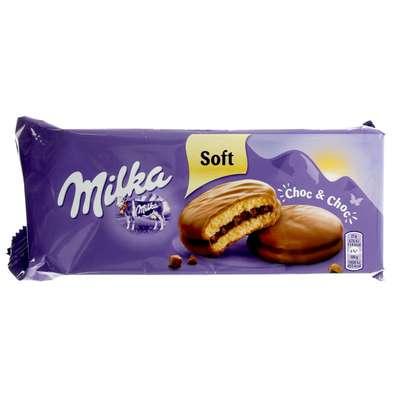 Мягкий сэндвич в молочном шоколаде Milka Choc & Choc 150 гр, фото 1